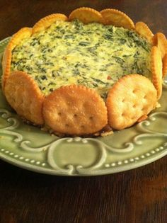 Spinach Parmesan Torte - the perfect appetizer!.....Ritz crackers,,,are the BEST!! EASY but impressive appy ~...