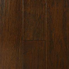 """Show details for Nuvelle Blowing Rock Hickory Cappuccino- 6-1/2"""", Dark brown floor, red floor, handscraped floor, engineered floor, hickory hardwood, antiqued floor, vintage floor, floor idea, floor trend, wide plank floor"""