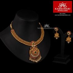 Art And Craft Jewelry Code: 9319269286 Pearl Necklace Designs, Antique Necklace, Necklace Set, Pandora Necklace, Gold Necklace, Necklace Ideas, Gold Temple Jewellery, Gold Jewellery Design, Gold Jewelry Simple