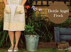 Simplicity 1080 is in the house and has now had all its pieces sewn together. So without further ado may I present to you my very first Dottie Angel Frock… Thanks must… Angel Outfit, Angel Dress, Dottie Angel, Mustard Yellow Dresses, Casual Dresses, Summer Dresses, Granny Chic, Hippie Dresses, Simplicity Sewing Patterns