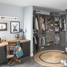 Give your teenager a sophisticated bedroom closet that has storage for everything. #KidsBedroom #ClosetDesign #DIY Closet Bedroom, Kids Bedroom, Sophisticated Bedroom, Kids Storage, Kitchen Pantry, Diy, Furniture, Home Decor, Butler Pantry