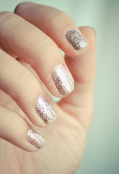 Sparkling silver nail art