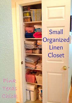 Ideas for Organizing the Linen Closet | Closet organization, Home and The  white