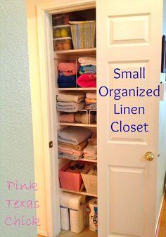 My Small, Organized Linen Closet