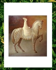 George Underwood (my dad) has entered 'The Messenger' painting into drawing a horse competition, click 'like' for it to win