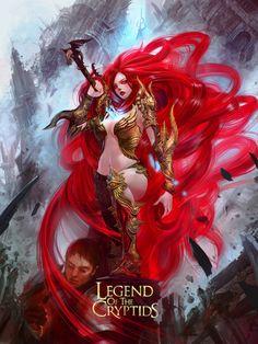 Artist: Jung Myung Lee aka rupid79 - Title: red2 - Card: Empyrean Ruler Artesia (Decadent)