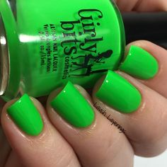 Lavish Layerings: Girly Bits Hoop! There It Is Collection (My Picks)  Hooperchondriac is a super bright neon green creme..