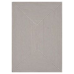 Hand-braided indoor/outdoor rug with a striped motif.  Product: RugConstruction Material: Polypropylene...