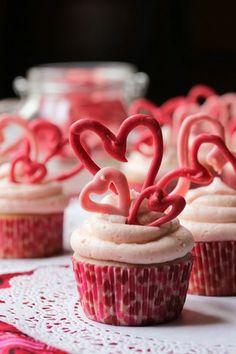 ラブリーハートのカップケーキ|カップケーキ&プチスウィーツの写真日記