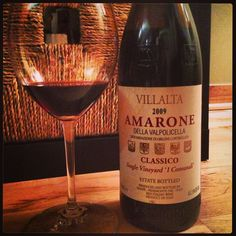 Looking for a tasty IT treat? This Villalta Amarone from Valpolicella will satisfy to the last drop. Rich w/ condensed rasp fruit, dry... satiating and supple. Dried basil, thyme & other IT herbs keep the palate wanting more. For $45, it's always a house fave of mine.