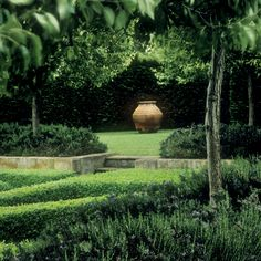 antique terra cotta immaculate lawns and clipped box hedges