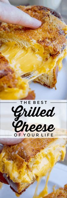 The Best Grilled Cheese of Your Life from The Food Charlatan. Let me introduce to you how to make the Best Grilled Cheese of Your Life! Fresh challah bread, ultra stretchy cheese in the middle, and a crispity crunchy cheese skirt on the outside of the sandwich. Did I mention the bacon? BOOM. #grilledcheese #cheese #sandwich #easy #dinner #challah #best #recipe #bacon Best Grilled Cheese, Grilled Cheese Recipes, Grilled Sandwich Recipe, Sandwich Recipes, Sicilian Recipes, Sicilian Food, Easy Family Meals, Easy Meals, Soft Foods