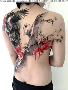 Beautiful trash polka back piece