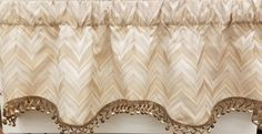 "Karaman Janey Valance 50""w x 16""l in Eggshell. $ 49.99 To Order Call toll-free 877-722-1100"