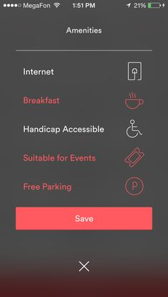 Mobile UI. Nice icons design - Airbnb