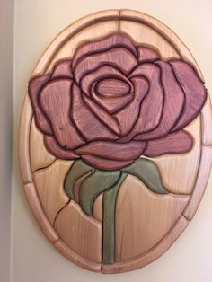 Intarsia Rose Flower by RusticAdirondackHome on Etsy Kids Woodworking Projects, Woodworking Basics, Woodworking Patterns, Woodworking Workshop, Fine Woodworking, Popular Woodworking, Bois Intarsia, Intarsia Wood Patterns, Wood Shop Projects