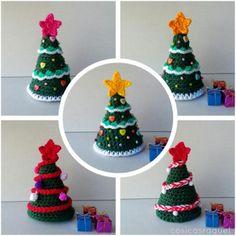 Arbol de Navidad a crochet artesanum