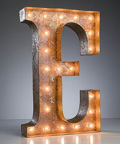 Look what I found on #zulily! 24'' E Vintage Marquee Light #zulilyfinds