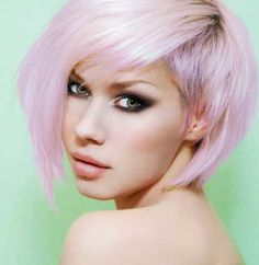 Violet blonde hair - to achieve this colour, bleach to pale yellow and tone with 9V, OR, intentionally over-tone using a violet toner...