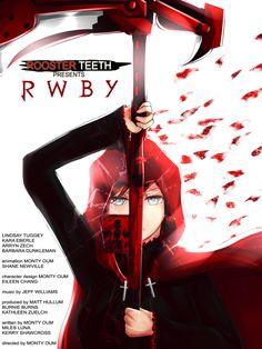 RWBY: Red Like Roses (poster edit) by on DeviantArt Red Like Roses, Rwby Red, Team Rwby, Rwby Anime, Rooster Teeth, It Goes On, Heroes Of Olympus, Ruby Rose, Manga