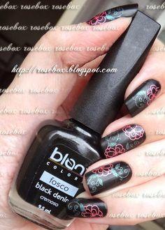 esmalte Blant black denim + carimbo