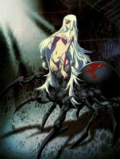 Arachne is a human woman from Greek mythology who was turned into the first spider after she defeated Athena in a weaving competition. Fantasy Girl, Chica Fantasy, Fantasy Races, Dark Fantasy Art, Mythological Creatures, Mythical Creatures, Monster Girl Encyclopedia, Female Monster, Spider Queen