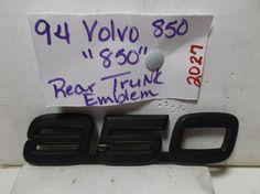 Volvo 850 BLACKED OUT TRUNK EMBLEM nameplate logo badge oem 2027 #VOLVO850BLACKEDOUTTRUNKEMBLEMoem