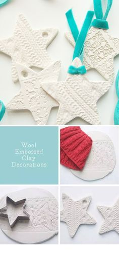 embossed clay decorations