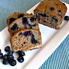 Blueberry Zucchini Bread - Moist zucchini Bread bursting with loads of Blueberry flavor