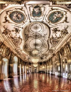 The Queluz National Palace (Portuguese: Palácio Nacional de Queluz) is a Portuguese 18th-century palace located at Queluz, a freguesia of the modern-day Sintra Municipality, in the Lisbon District. One of the last great Rococo buildings to be designed in Europe...