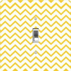 "Rikki KnightTM Deep Yellow Zig Zag Stripes - Single Toggle Light Switch Cover by Rikki Knight. $13.99. The Deep Yellow Zig Zag Stripes single toggle light switch cover is made of commercial vibrant quality masonite Hardboard that is cut into 5"" Square with 1'8"" thick material. The Beautiful Art Photo Reproduction is printed directly into the switch plate and not decoupaged which make these Light Switch Plates suitable for use in any room in the office, home, etc. etc.. These Lig..."