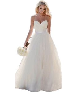 2ada26edbb Nicefashion Womens Ivory Elegant Bohemian Beach Wedding Dress With Lace  Applique Ivory US8    Read