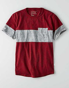 AEO Colorblock Stripe T-Shirt , Navy | American Eagle Outfitters