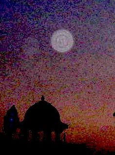 Orb over Oneness Temple, India