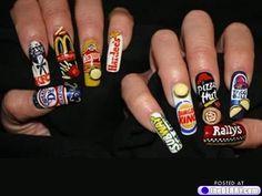food takeaway nail art