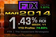 2014 - Week 11 Profits!