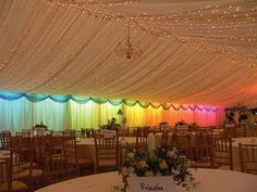 Abbas Marquees - OMG I need the rainbow wall and twinkly ceiling!