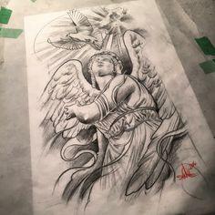 Pin de arsen jann em chikano эскиз тату, ангелы тату e крутые татуировки. Skull Rose Tattoos, Tribal Tattoos, Body Art Tattoos, Celtic Tattoos, Star Tattoos, Tattoo Art, Angel Tattoo Designs, Tattoo Sleeve Designs, Tattoo Designs Men