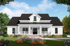 House Plan 348-00279 - Modern Farmhouse Plan: 2,107 Square Feet, 3-4 Bedrooms, 2.5 Bathrooms