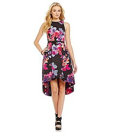 Vince Camuto Flower Print FitandFlare Dress #Dillards