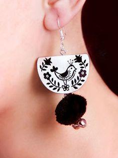 Fabric Earrings, Wooden Earrings, Fabric Jewelry, Clay Earrings, Clay Jewelry, Jewelry Crafts, Terracotta Jewellery Making, Terracota Jewellery, Handmade Jewelry Designs