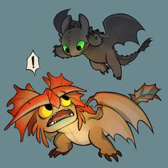 YoungToothless and Young Cloudjumper