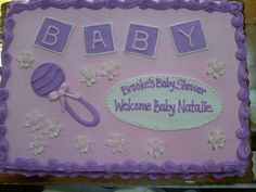 baby girl shower sheet cakes - Google Search
