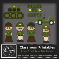 Army Proud Template Bundle. Clipart Templates for Scrapbooking, Digital Designs, Scrapbooking, Clipart, Creating Cards Printables. Comes PSD Format For Use in Photoshop and Graphics Programs