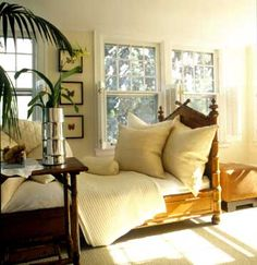 Relaxing Decor with a tropical theme, featuring a faux bamboo daybed - Better Homes and Gardens