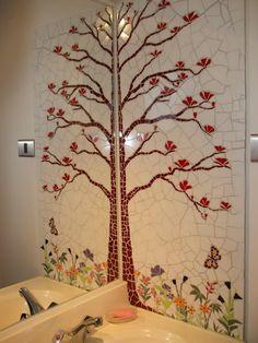 mural para baño