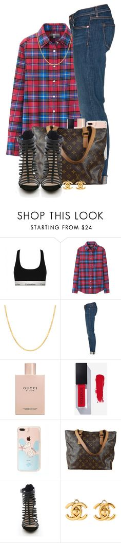 """""""09/01/2017"""" by theresaaaaaaa ❤ liked on Polyvore featuring Calvin Klein, Uniqlo, Sterling Essentials, J Brand, Gucci, Louis Vuitton and Chanel"""