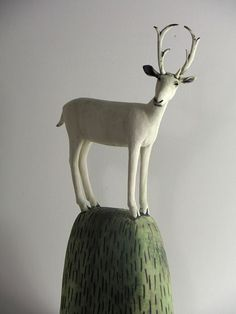Ceramics by Anna Noel Ceramic Studio, Ceramic Clay, Ceramic Pottery, Pottery Art, Pottery Animals, Ceramic Animals, Ceramic Figures, Ceramic Artists, Deer Art