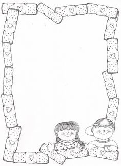 hope you feel better soon Cute Coloring Pages, Free Coloring, Coloring Books, Coloring Sheets, Adult Coloring, Borders For Paper, Borders And Frames, Boarder Designs, Doodle Frames