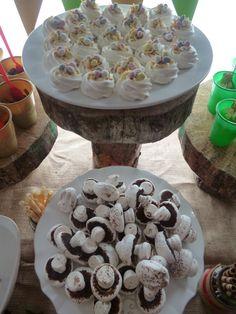 meringue mushrooms and birds nests